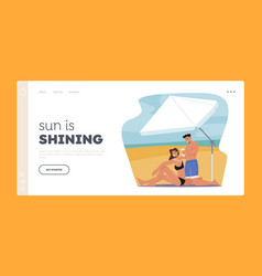 Summer vacation landing page template ultraviolet vector