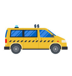 taxi car flat design isolated object on white vector image
