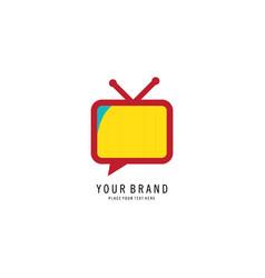television icon logo vector image