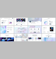 templates with geometric patterns gradient vector image