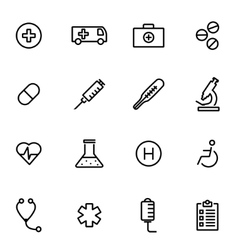 thin line icons - medical vector image