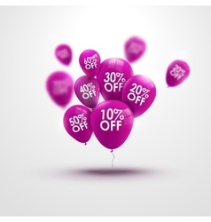 Trendy beautiful background with baloons and vector image
