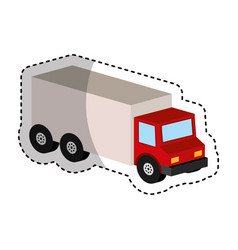 truck vehicle isometric icon vector image
