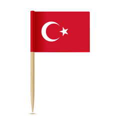 Turkey flag flag toothpick vector