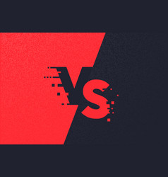 Versus letters or vs logo red watercolored vector