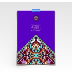 Violet colour decorative sheet of paper vector