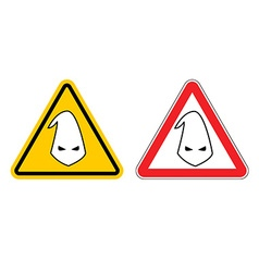 Warning sign of racism Hazard Yellow Sign race vector image
