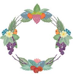 Wild berries wreath vector