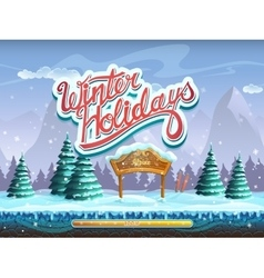 Winter holidays boot screen window for the vector image