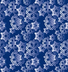 winter snowflakes pattern vector image