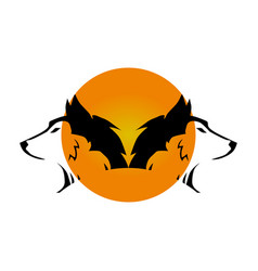 wolfs symbol vector image