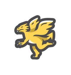 yellow dragon fly icon cartoon vector image