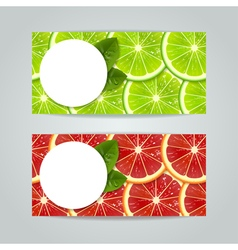 banners with citrus fruits vector image vector image