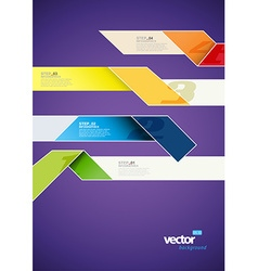 Infographic template with stripes and place for vector image