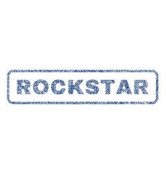 rockstar textile stamp vector image vector image