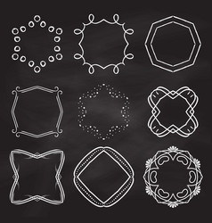 decorative frames on chalkboard background vector image vector image