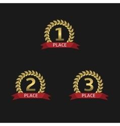Golden award set vector image vector image