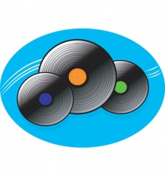 Music disc vector