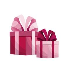 pink gift boxes mothers day vector image vector image