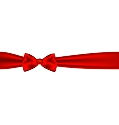 Red bow on white background vector image vector image