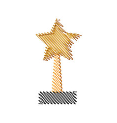 Trophy star winner competition award icon vector