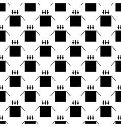 Box pattern seamless vector image vector image