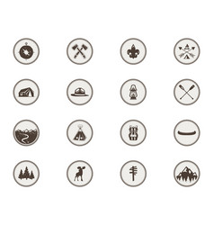 boy scouts icons patches the full bundle vector image vector image