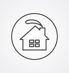 cozy home outline symbol dark on white background vector image