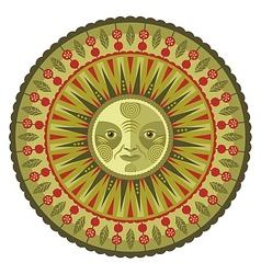 Decorative Spring Mandala vector image vector image