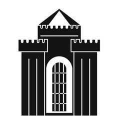 medieval palace icon simple style vector image vector image