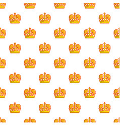 Monarch crown pattern seamless vector