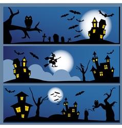 Set of Halloween banner Holiday design vector image