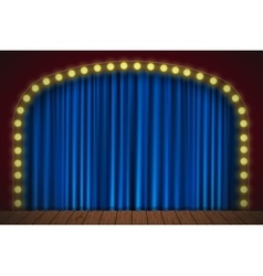 Stage with blue curtain vector image