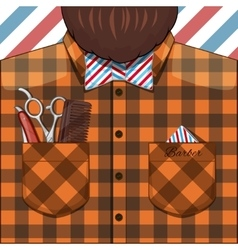 Barber Bearded Man vector image vector image