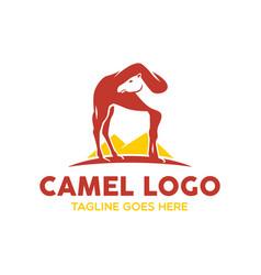 camel logo-15 vector image vector image