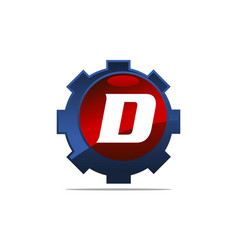 Gear logo letter d vector