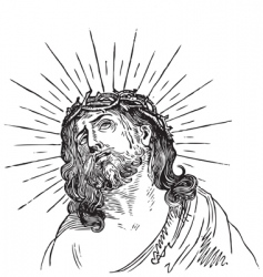 Jesus Christ engraving vector image