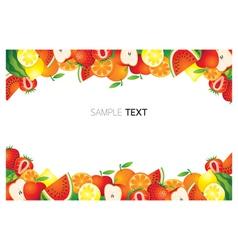 Mixed Fruits Frame Border vector image vector image