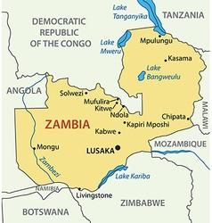 Republic of zambia - map vector