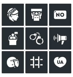 Set of Feminism and Womens Rights Icons vector image
