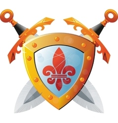 Shield With Swords vector image vector image