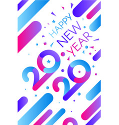 2020 happy new year decorated confetti banner vector