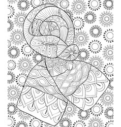 Adult coloring bookpage a christmas scarf vector
