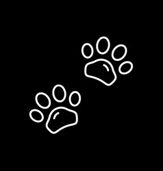animal paws line outline icon vector image