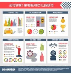 Auto Sport Infographics vector image