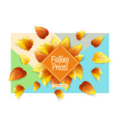 Autumnal promo background vector