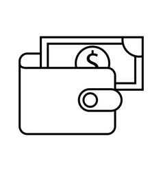 banking wallet banknote money safe cash vector image