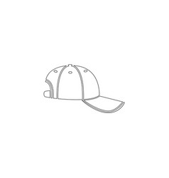 baseball cap flat icon vector image
