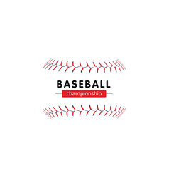 Baseball championship banner - isolated softball vector