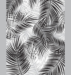 Black and white palm leaf background vector